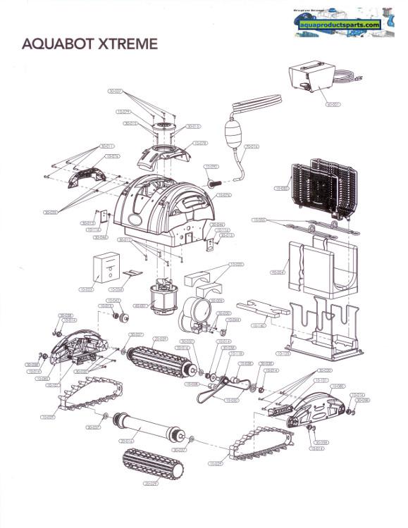 Parts By Cleaner Aquabot Xtreme Aquabot Parts Aqua