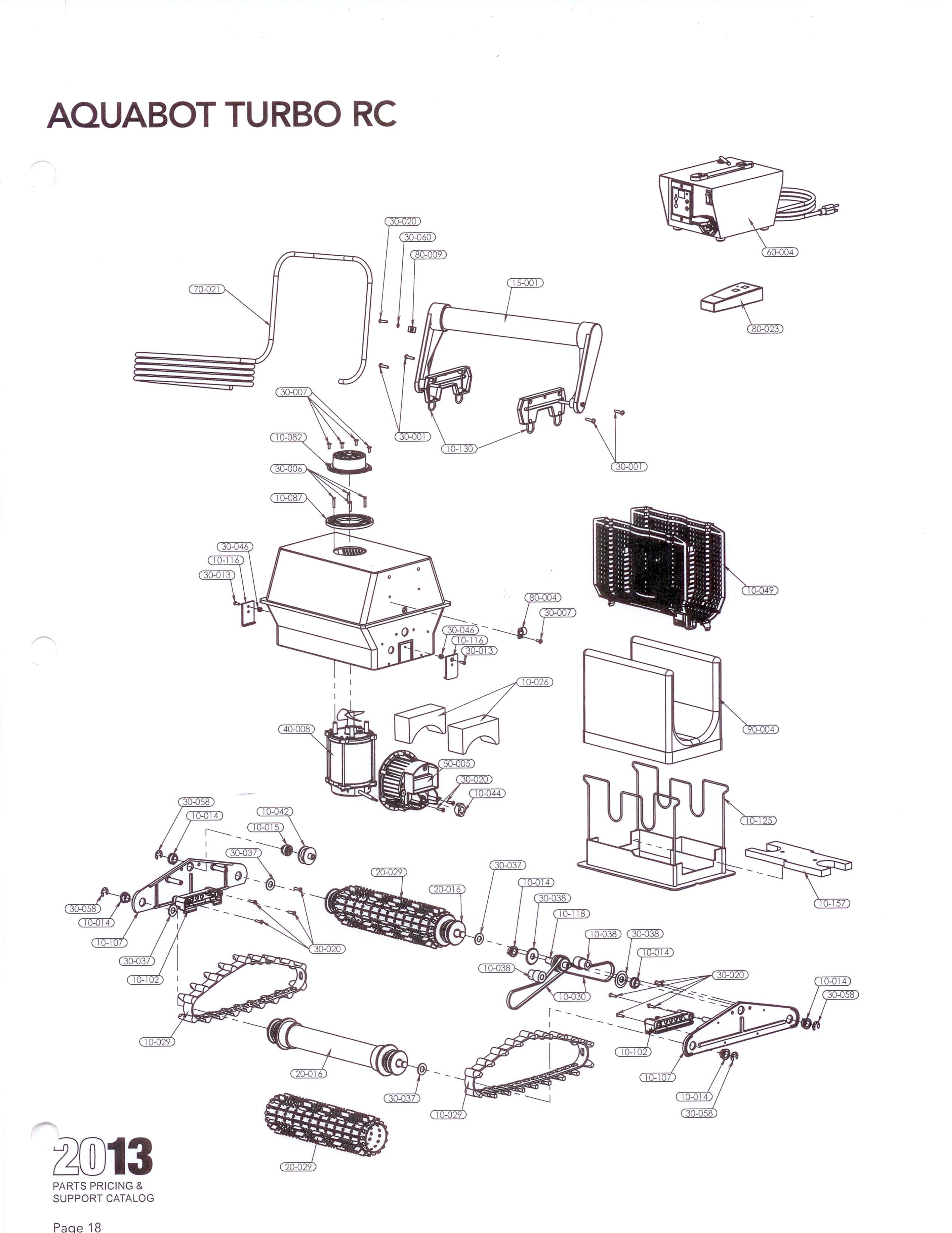 Parts By Cleaner Aquabot Turbo Rc Aquabot Parts Aqua