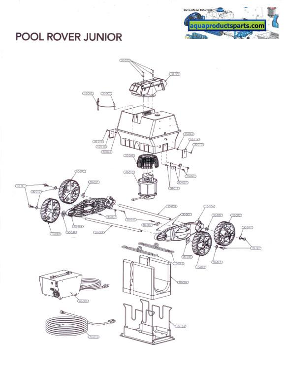 Parts By Cleaner Pool Rover Junior Aquabot Parts Aqua
